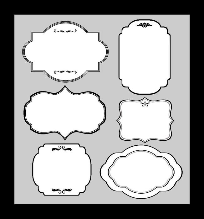 Скрапбукинг рамка шаблон