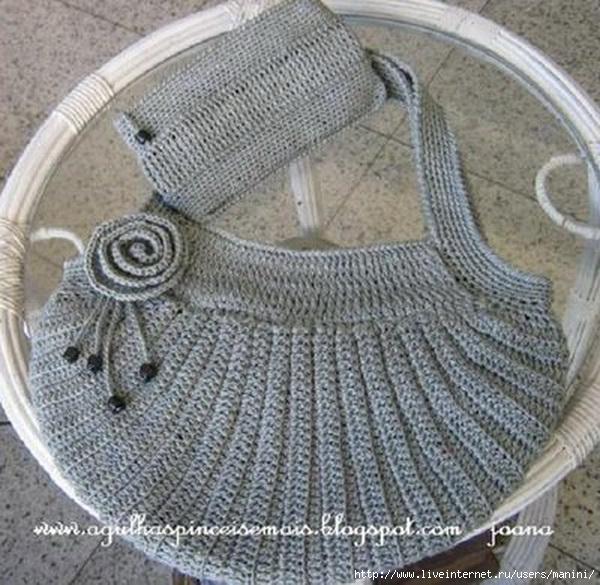 Вязание крючком сумки схемы.  Вязание спицами, схема вязания спицами.