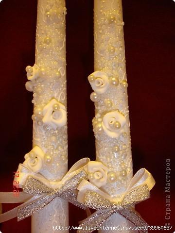 Мастер класс по украшению свечей на свадьбу