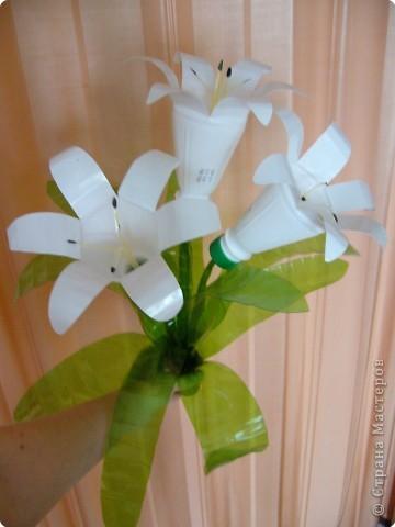 Как сделать поделку цветы из бутылки
