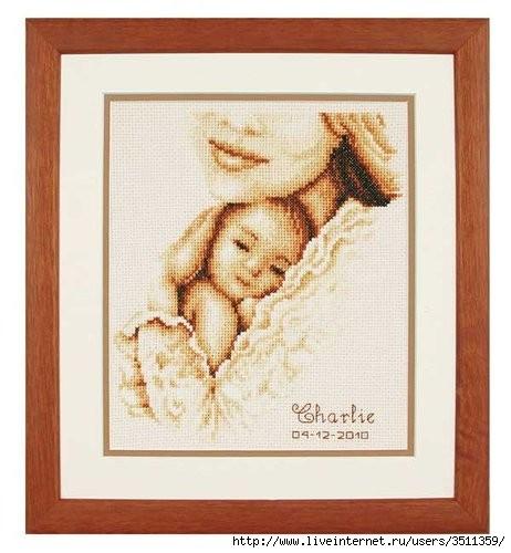 Вышивка крестом схемы спящий малыш