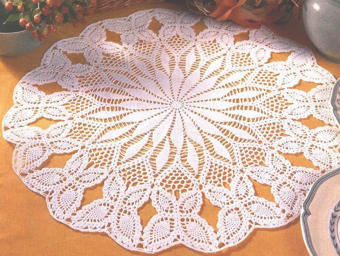 филейного вязания салфеток