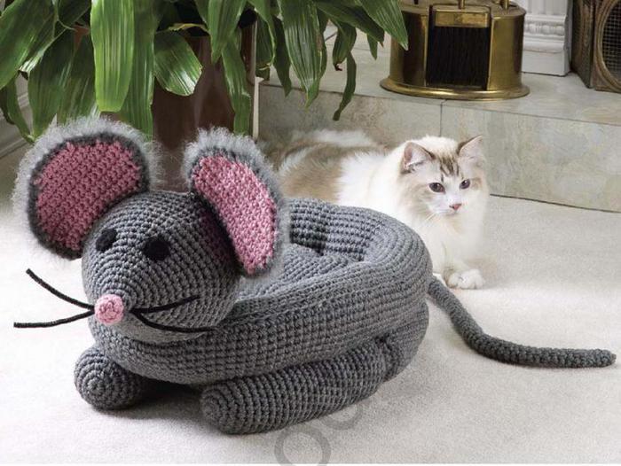 Лежанка для кошки своими руками связать