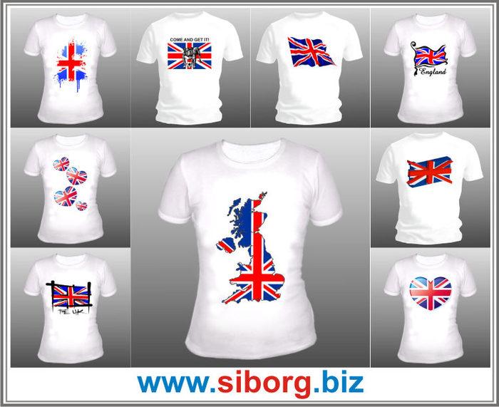 Купить футболку: хаус и британский флаг, заказать наклейку ак 47
