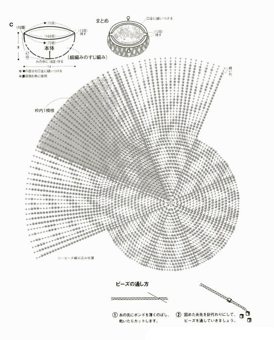 Схема кошельков из бисера.
