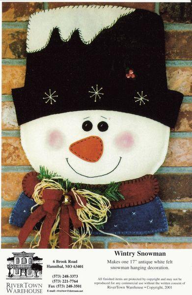 выкройка снеговика из фетра.