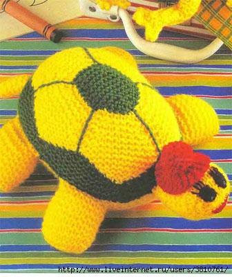 Вязание спицами: Черепаха Вяжем вместе с Вами