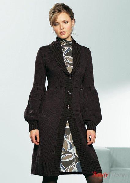 пальто спицами схемы.