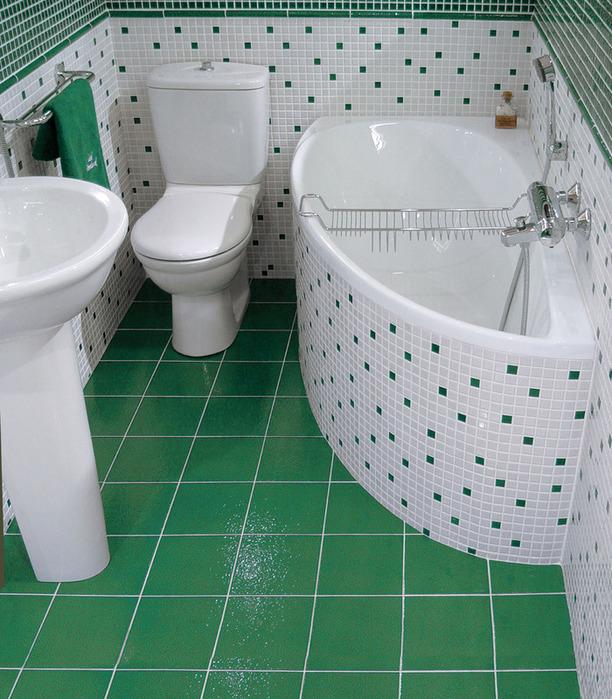 Сидячая ванна для малых помещений
