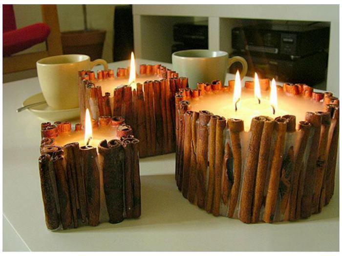 Идеи свечей из воска