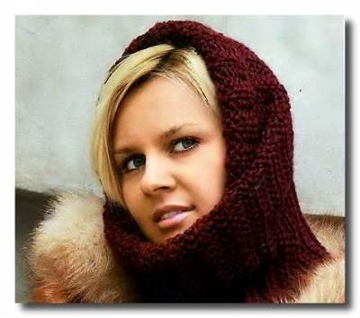 Описание: Схема вязания шарфов трубы - вязание.