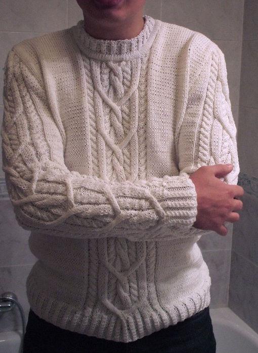 вязание спицами несложных мужских свитеров со схемами. схемы вязания.