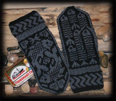 Узор на рукавицы мужские