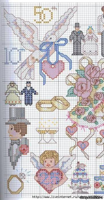 Схемы для вышивки открыток