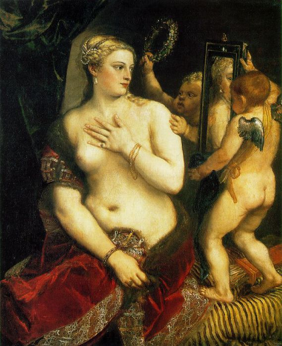 Тициан Вечелли.  Венера перед зеркалом.