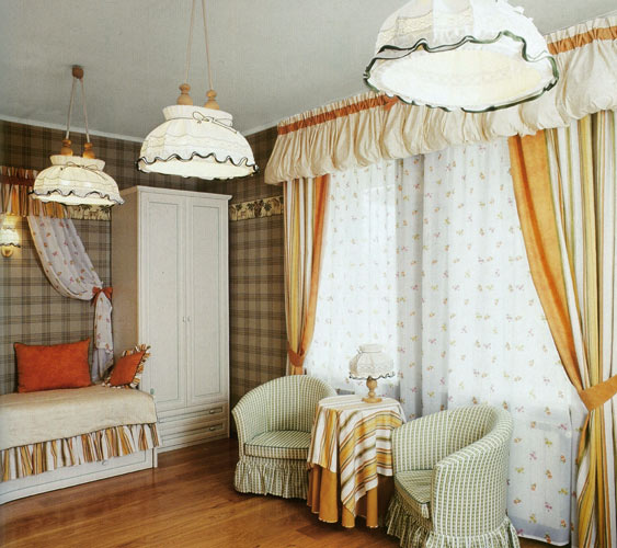 оригинальные шторы для кухни стиль кантри фото.