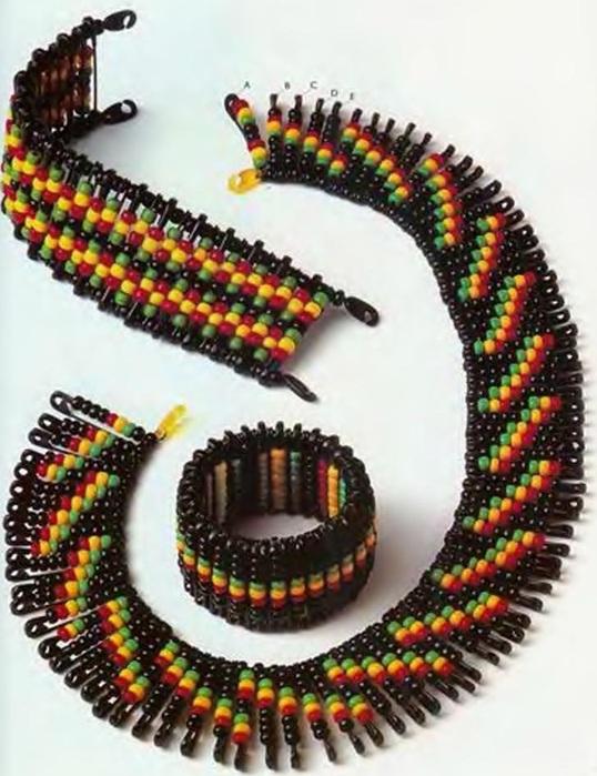вязание украшений крючком из бисера схемы - Исскуство схемотехники.
