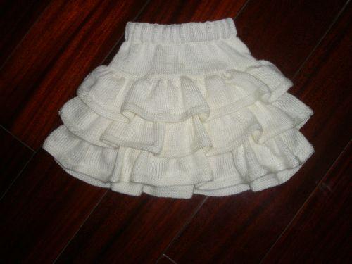 Симпатичная юбочка для девочки.  Спицы.