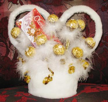 Поделки из конфет своими руками пошаговое
