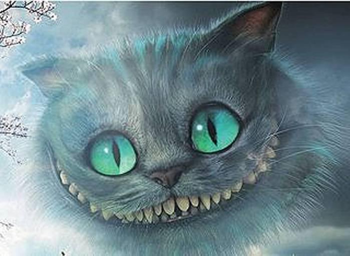 Кот из фильма алиса в стране чудес раскраска