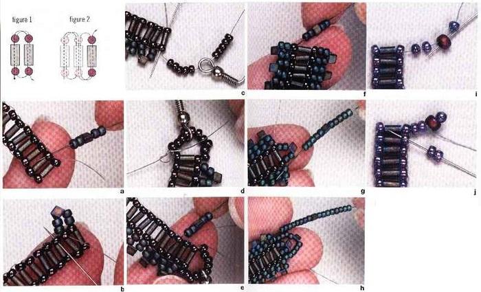 плетение из бисера серьги - Мир Бисера.