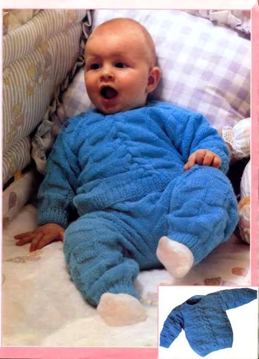 Вязать спицами детский костюмчик до года