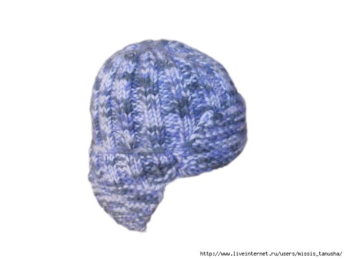 мужские вязаные шапки спицами.