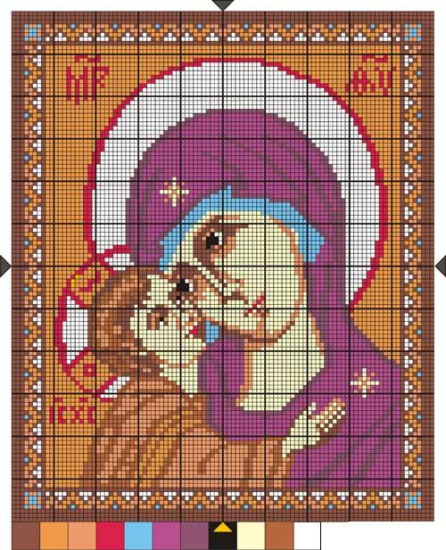 Схемы вышивки крестом вышивка икон 259