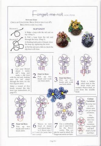 из инета. бусинки и нежные цветочки из бисера.