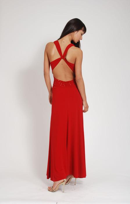 Длинное вечернее платье с открытой спиной выкройки