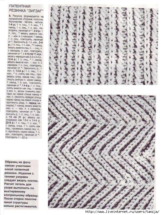 говядина зигзаг резинка спицами схема вязания возможность фильтрации