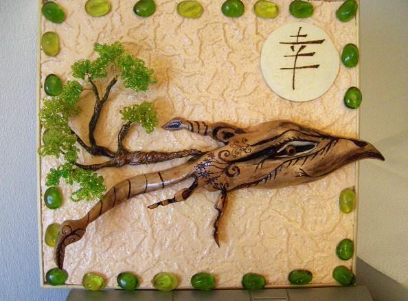 Часть 13 - дерево из бисера и... кельтский узел. жара.