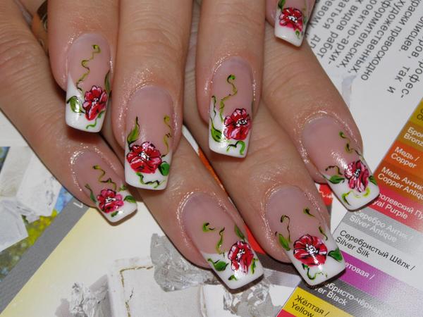 Красивые рисунки ногтях сделать самой себе