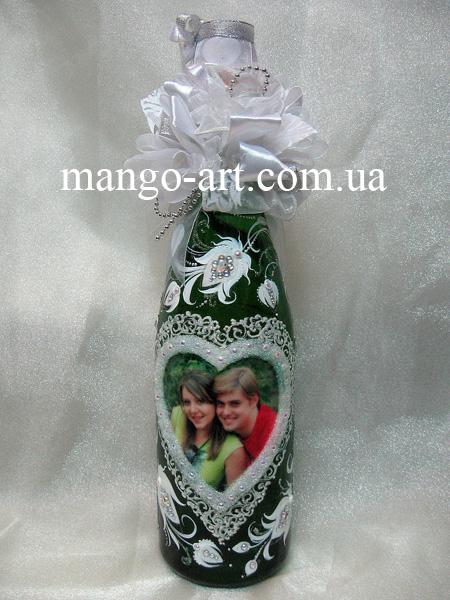 Как сделать фото в рамке на бутылке с шампанским - Pumps.ru