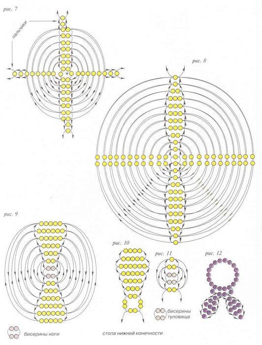 Схема вязания крючком шапочки поросенка.