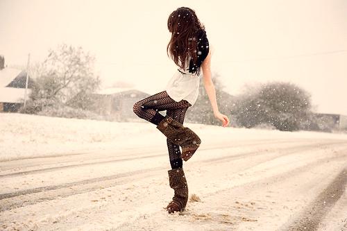 Фото Девушка зимой.