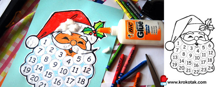 Сделать новогодний календарь своими руками