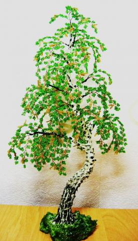 Бисероплетение схемы деревья береза.  Мастер-класс берёза из бисера.