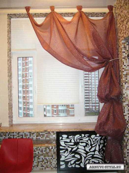 ткань для штор на кухню.
