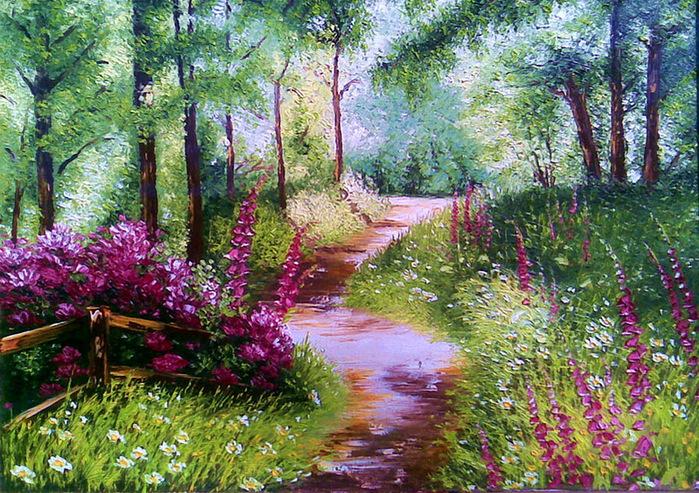Раскраски лето природу