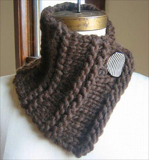 Хочется необычный шарф, маленький, как воротник, на...