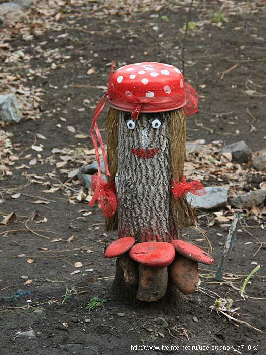 Как своими руками сделать грибы из дерева 88