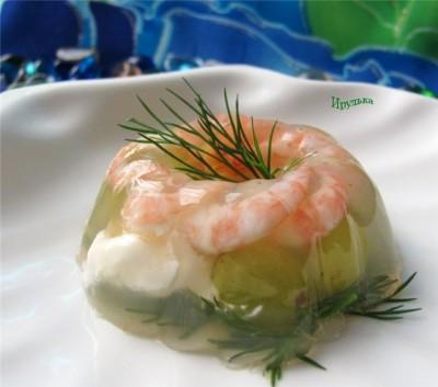 Рецепт заливного с креветками с фото