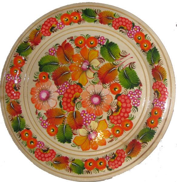 Петриковский роспись на посуде