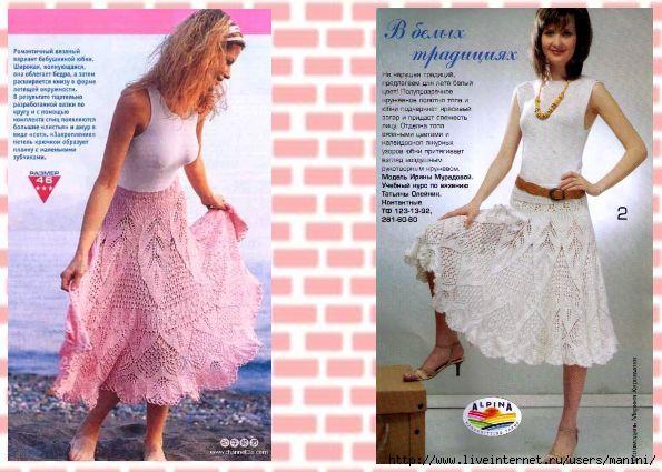 Вязание ажурной юбки