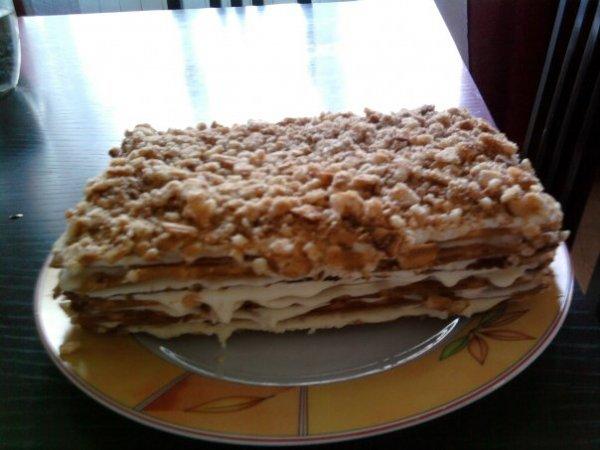 Торт из вафлей фото рецепт