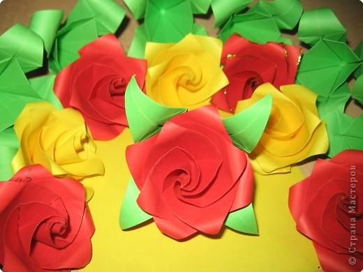 Схема кусудамы Little Roses (5 вариантов) .