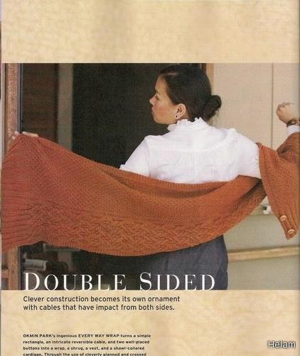 Шарф-трансформер и рельефные узоры для вязания спицами.