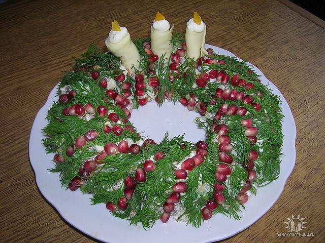 Новогодний простой салат рецепт с фото