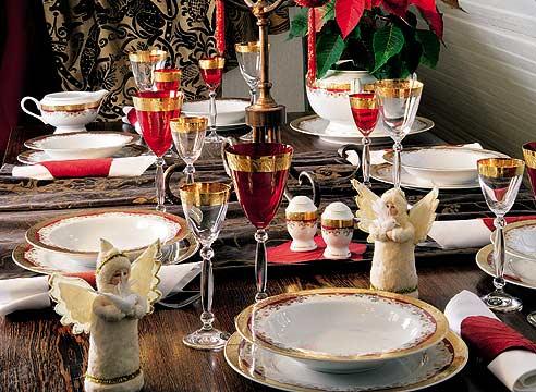Новогодняя сервировка стола.